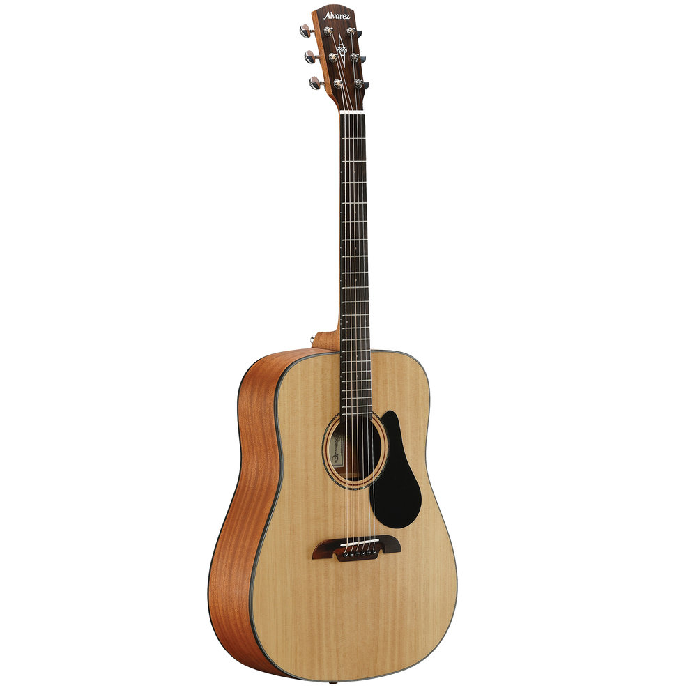 Alvarez guitar  Acoustic, Dreadnought guitar Solid Sitka spruce top Mahogany back and sides Rosewood fingerboard