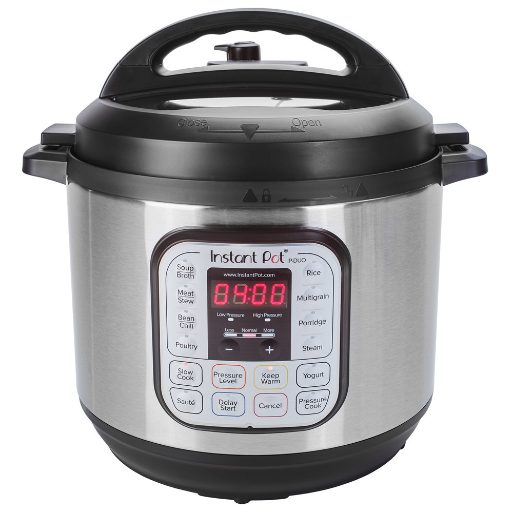 Instant Pot Cooker -  7-in-1 multifunction cook: pressure cooker, saute/browning, slow cooker, rice cooker, steamer, warmer, and yogurt maker - Capacity 7.5 litres