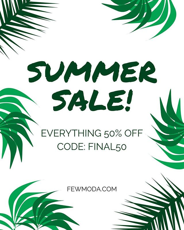 Shop our spring and summer styles now! Use discount code FINAL50 and save #summersale