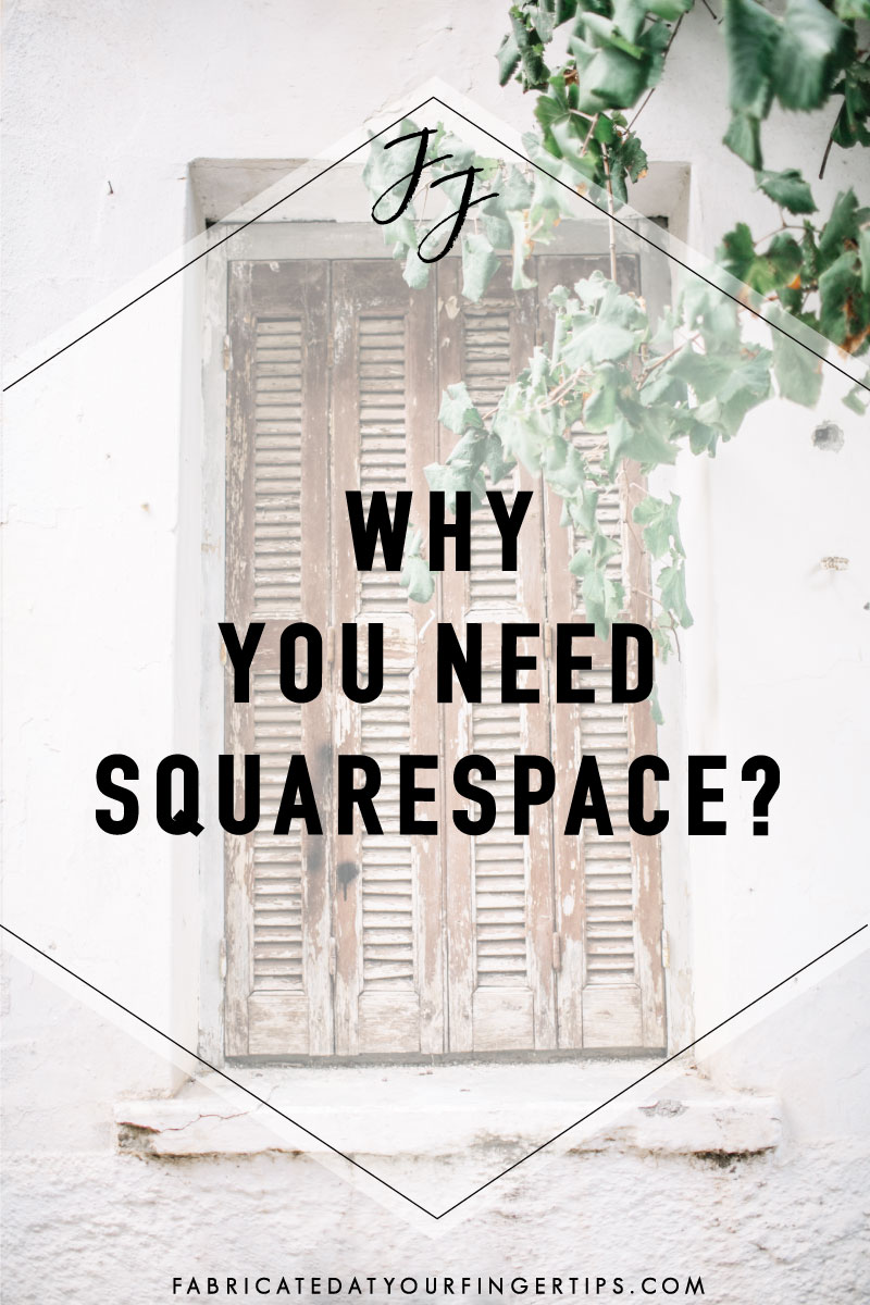 why you need squarespace