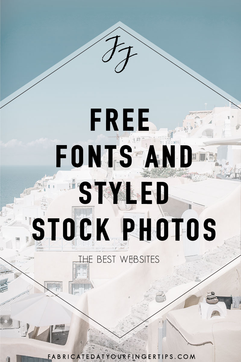 where to find free fonts and styled stock photos