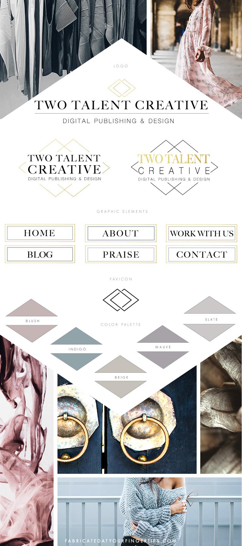 two talent creative branding style board