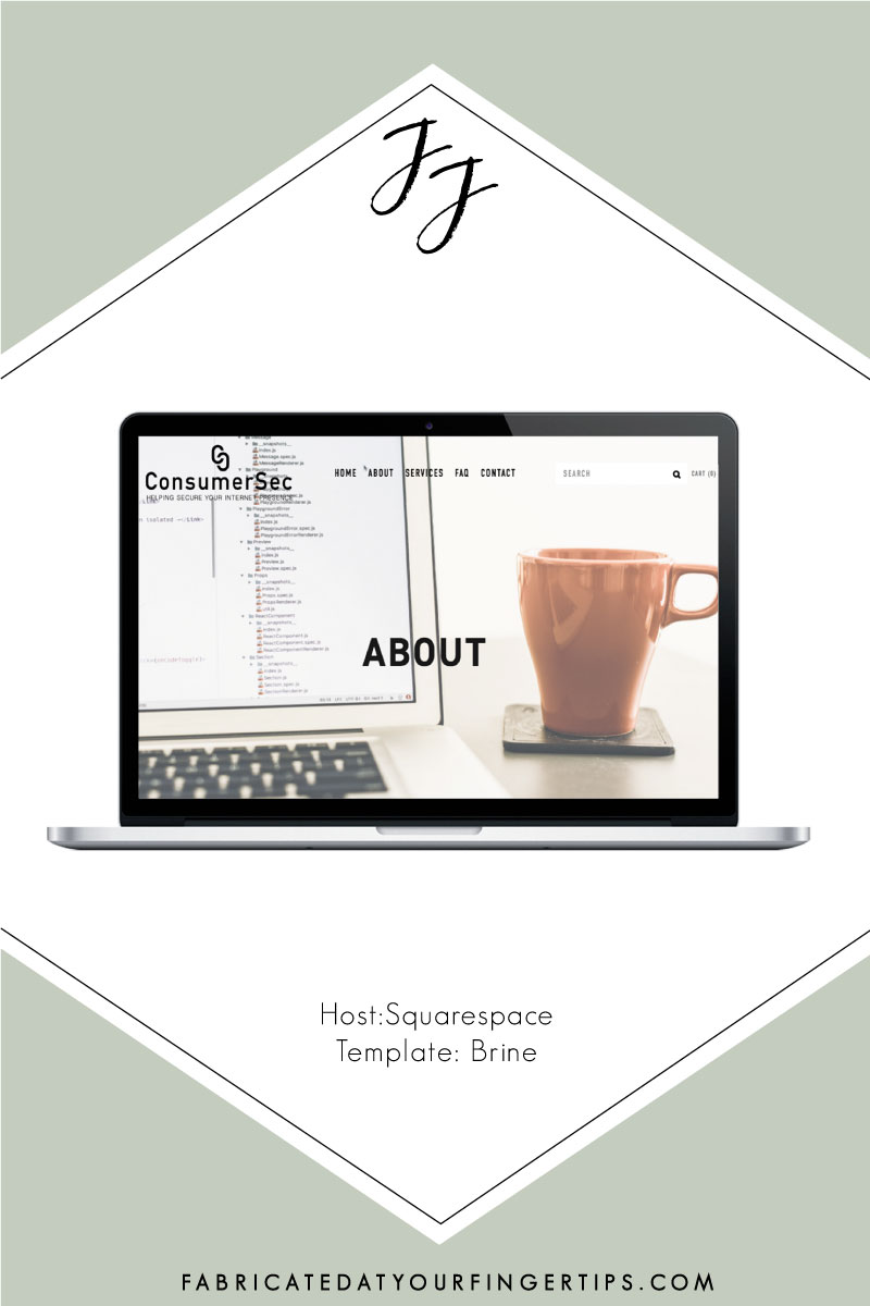 consumersec squarespace website design