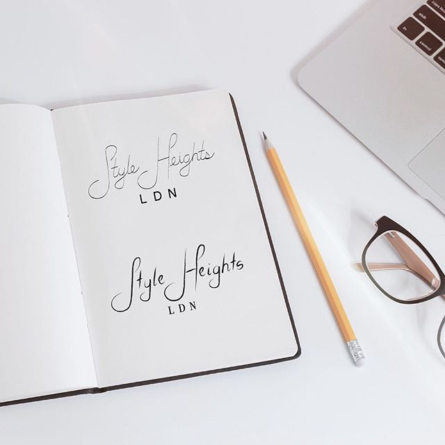 Remember a few years back when computers weren't available to limit our creativity? I ALWAYS design on paper first to gather ideas and concepts. Super excited about some concepts for Style Heights London, a clothing line for tall women!