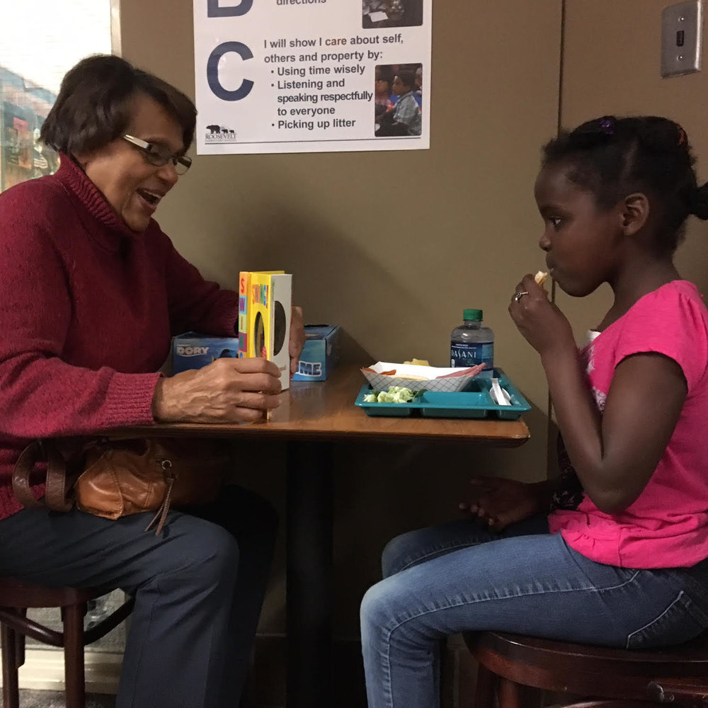 "Roosevelt Elementary School ""Lunch Buddies"" mentoring program"