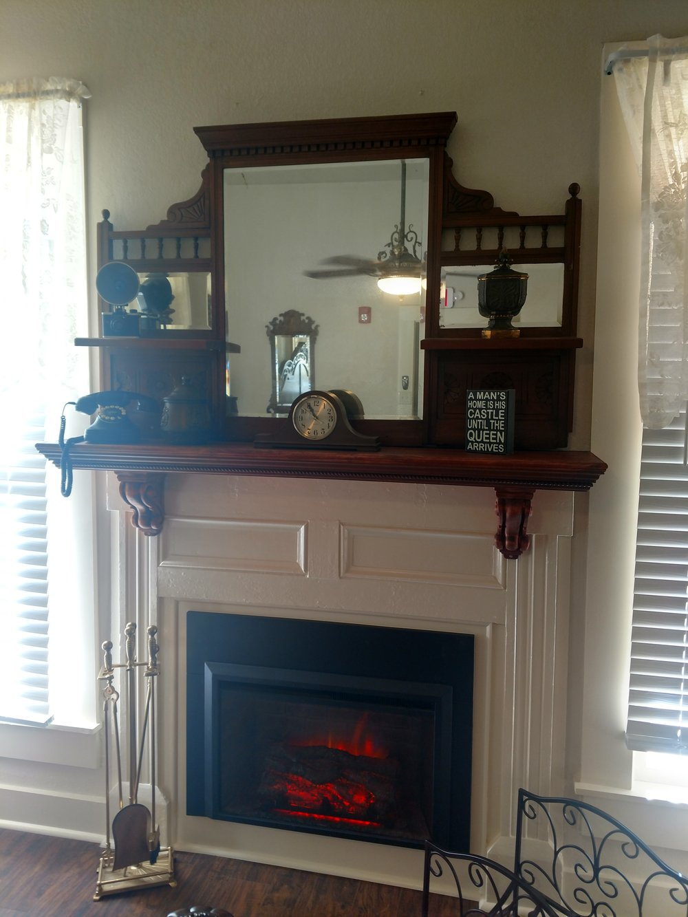 Queen Elizabeth Fire Place