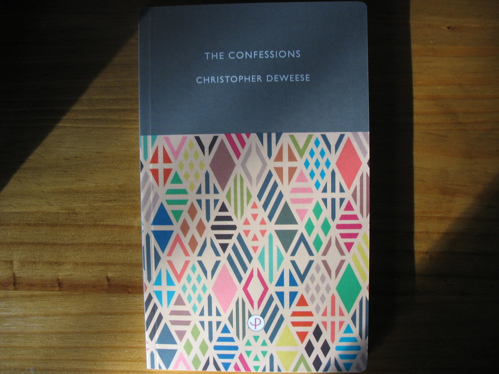 - The Confessions, my third book, is my first to be published in the United Kingdom. It's a book about diving bells, automatons, living insignias, detectives, garden mazes, flea circuses, murder dollhouses, Esperanto, twenty-one gun salutes, spirit photography, company towns, daredevils, forgery, circuses, turning to soap, auctioneering, fake pirates, and anarchist bullfighters.The Confessions is now available! It has been published by Periplum, a new poetry press based out of Plymouth University that
