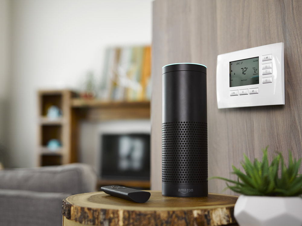 Voice Commands   How powerful is your voice? Your voice can now operate most of your home functions. Alexa set table lamp to 40 percent.
