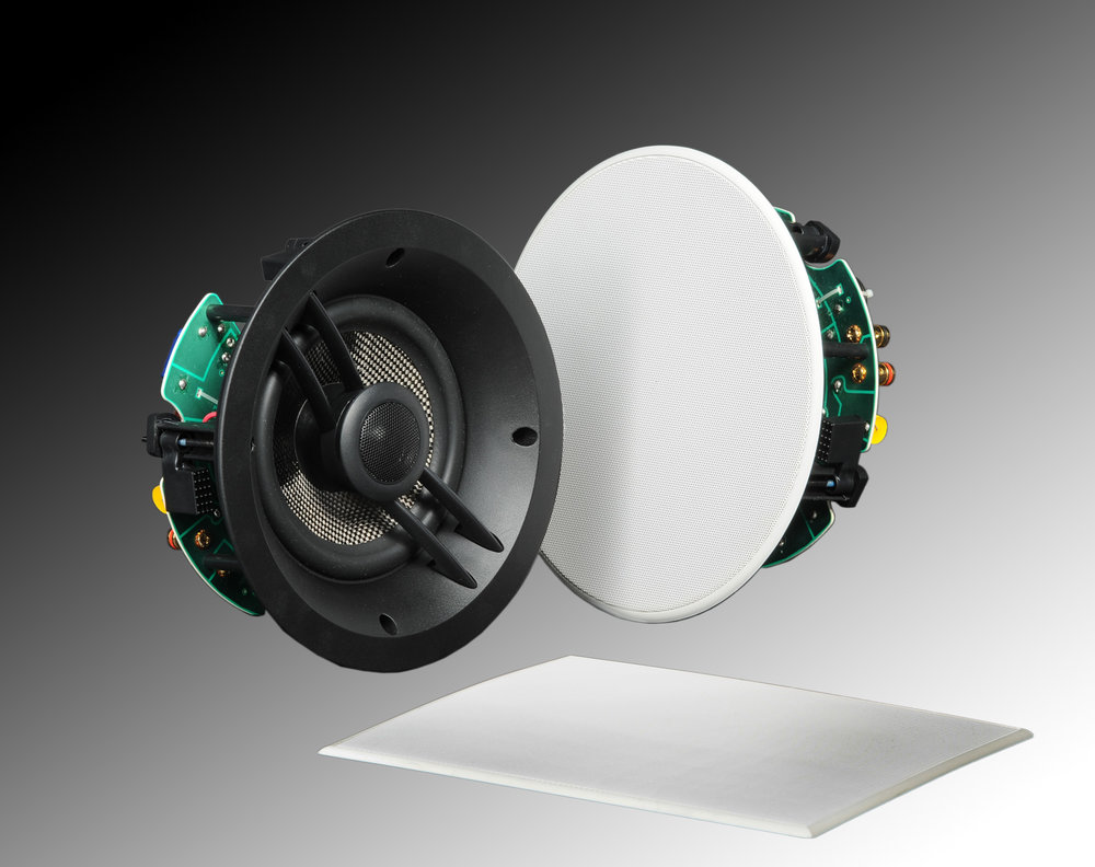 In-Ceiling - In-Ceiling speaker allow you to have you speakers virtually disappear into the room. Most come with a paintable grill to match your ceiling color. In-Ceiling speakers come in many sizes, shapes and performance options.
