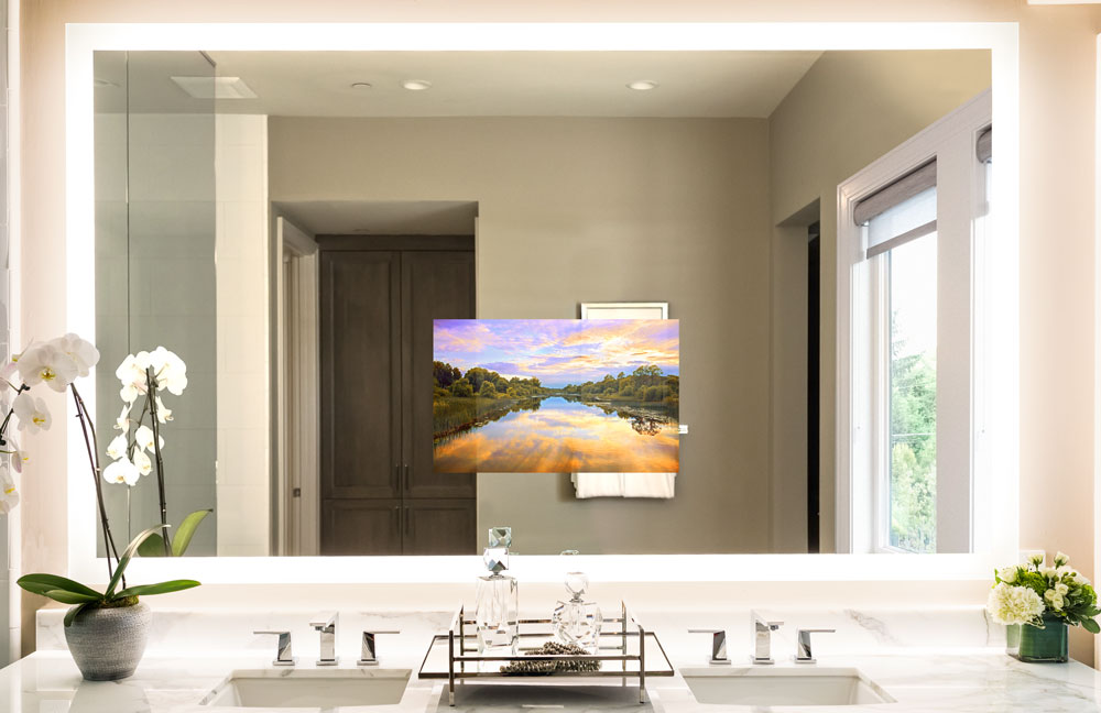 Designer Friendly - There are many options for designer friendly televisions. We offer mirror TV's for bathrooms, and living rooms. We also offer the new Samsung Frame TV.