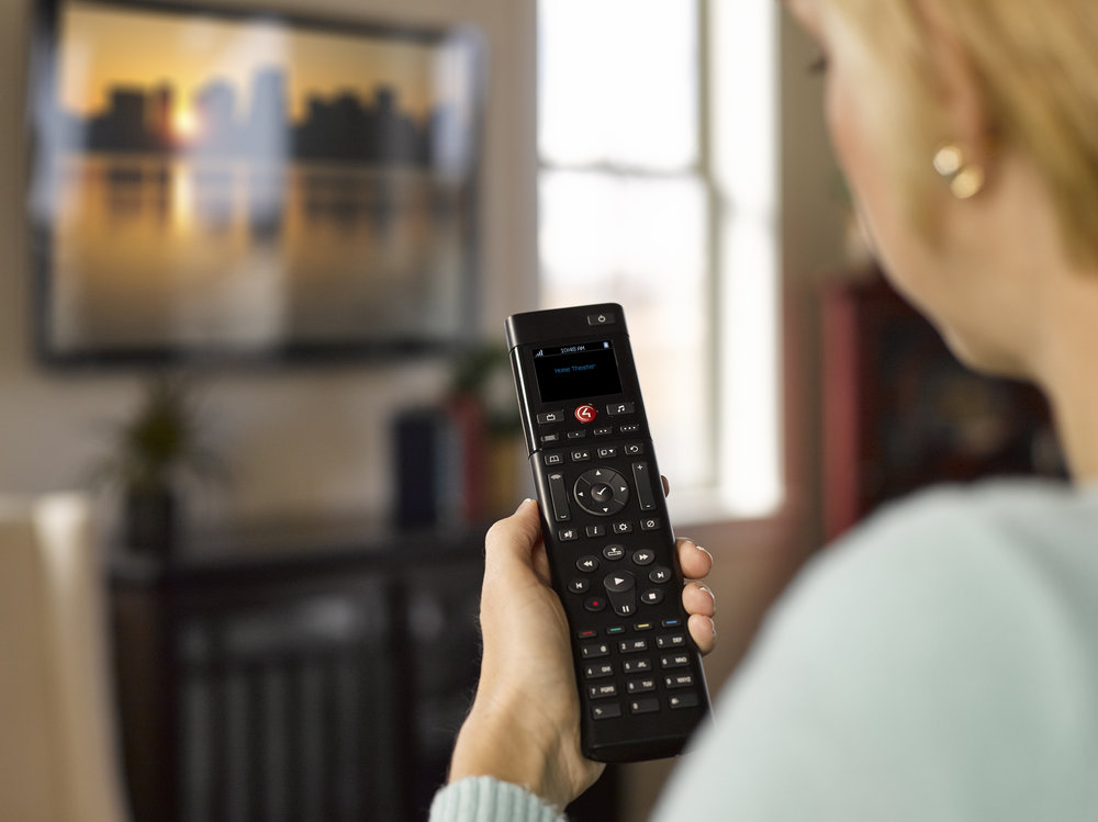 Hand Held Remotes - Hand held universal remotes still are the best choice for your theater or family room systems. The hand held remotes can combine multiple remotes into a simple to use single remote. many can still give you control over other items like HVAC and lighting