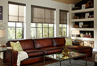 Roller Shades - Roller shades can offer a view while cutting out glare and heat. Roller shades are available in many different opacity, from black out to sheer.