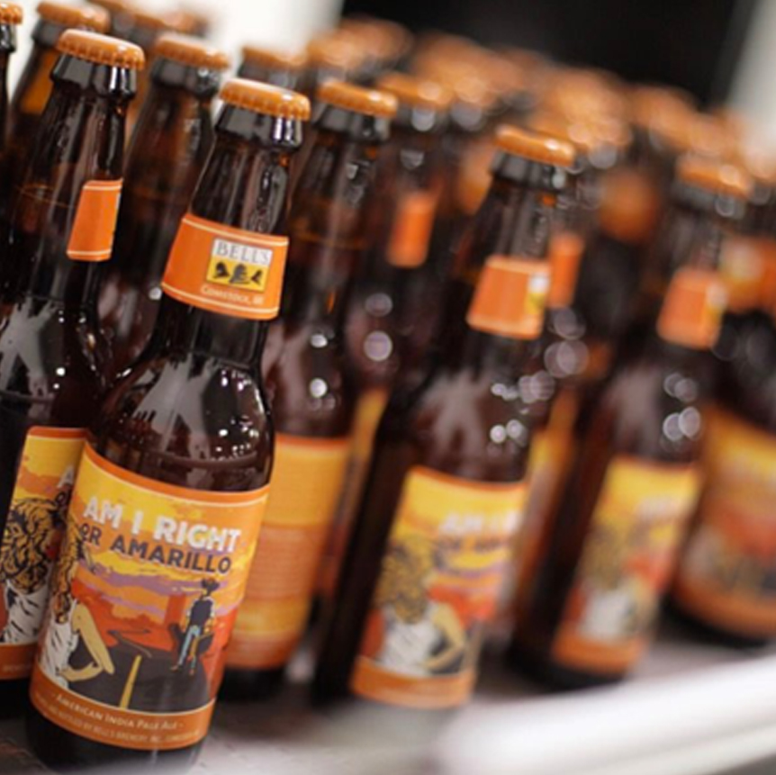 BELL'S BREWERY AM I RIGHT OR AMARILLO PACKAGING -