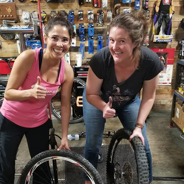 I'd call the Rage Cycles @ragecycles women's tire change Clinic was a success tonight.  I love teaching and assisting women in their journeys to feel empowered.  Congrats to the entire class tonight. You are all rockstars!