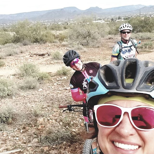 The best part of my coaching endeavor is being able to enjoy riding with my athletes....who are also my friends.  What a great day on the mountain with you Pam!  Pam is training for a 6 day stage race in Breckenridge.  She lives in that area which is currently covered in weather.  Its gotta feel great to visit Arizona and feel the warmth of our sun.  Yet we envy you during the summer ;)