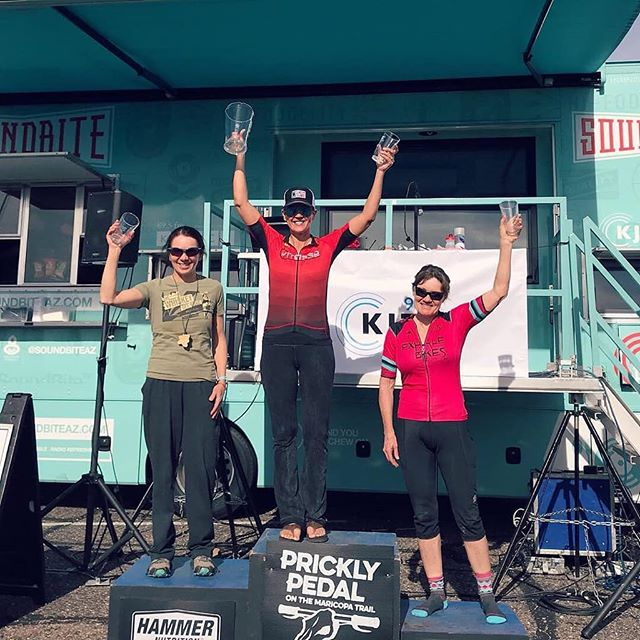 Congratulations to CK athlete Jane Meneely on her Prickly Pedal race.  37 singletrack miles from Cave Creek to Lake Pleasant.  Jane finished 5th female overall and 1st in her age group.  Huge congrats to you!