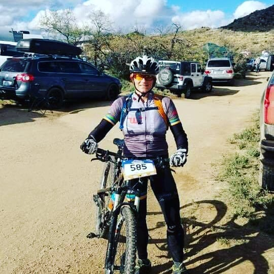Congrats to CK athlete Mary Recker who trained and raced with her 5 man co ed team at the 24 hours of Old Pueblo last weekend.  She held steady and strong laps and more importantly despite the freezing temps....had a good time.  Love it Mary!!!