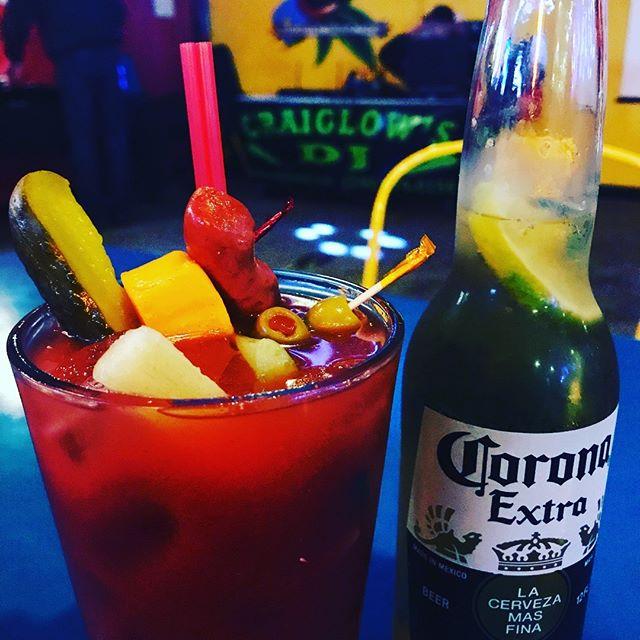 Nothing like #buckeyelakewinterfest - fun with Benny. Tacos, Bloody Mary bar, karaoke!