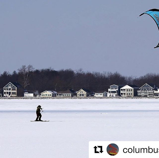 Thanks so much @columbusdispatch for Exploring Buckeye Lake...even on one of the coldest days of the new year! - - #Repost @columbusdispatch with @get_repost ・・・ If you want your snow day activities to be more extreme, you could try snowkiting like this person on a frozen Buckeye Lake. (📸: @brookelabrooke) #kiteskiing #snowkiting #buckeyelakewinery