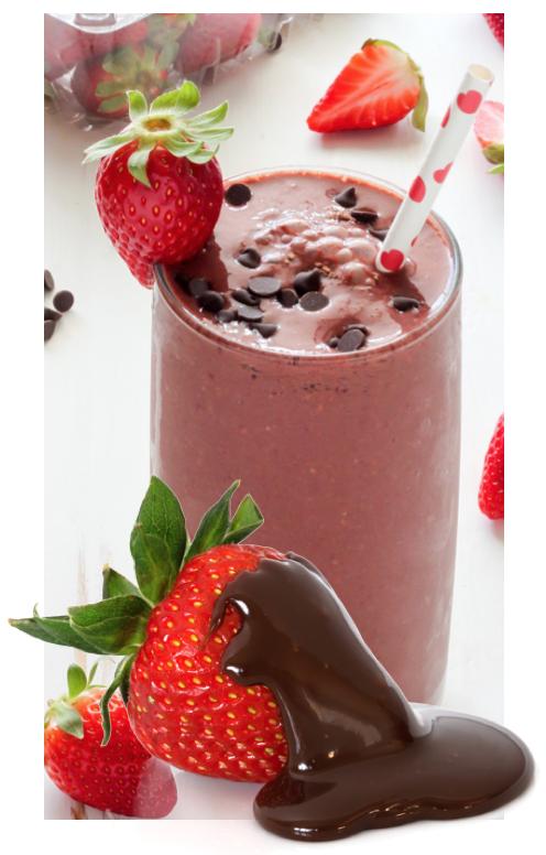 milkshake - Chocolate-Dipped Strawberry