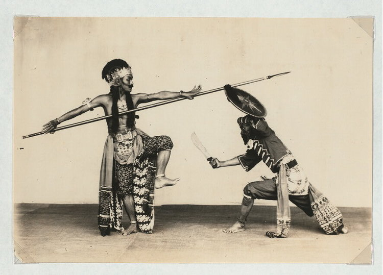 Photograph from the Claire Holt archives, NYPL
