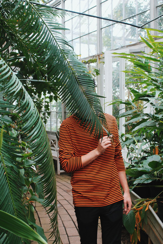 The boyf in Copenhagen's Botanical Gardens.