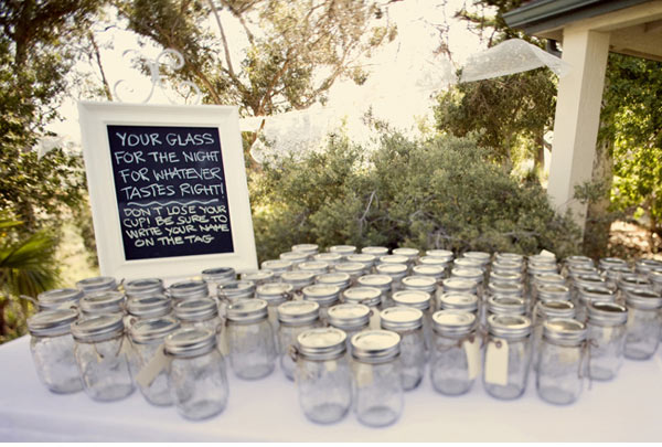 mason jars for drinks at wedding.jpg