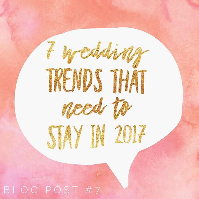 Is your wedding date set for 2018? Then maybe leave these trends in last year - where they belong. From rustic wood signs to personalized shot glasses, these are the popularized trends that saw their 15 minutes of fame and don't belong in next year's celebrations. Click the link in bio to read more! . . . . . . #agaveweddings #atxbrides #brides #weddings #tips #bridal #weddingtrends #weddingtrends2018 #weddingdiy #pinterest #weddingphotography