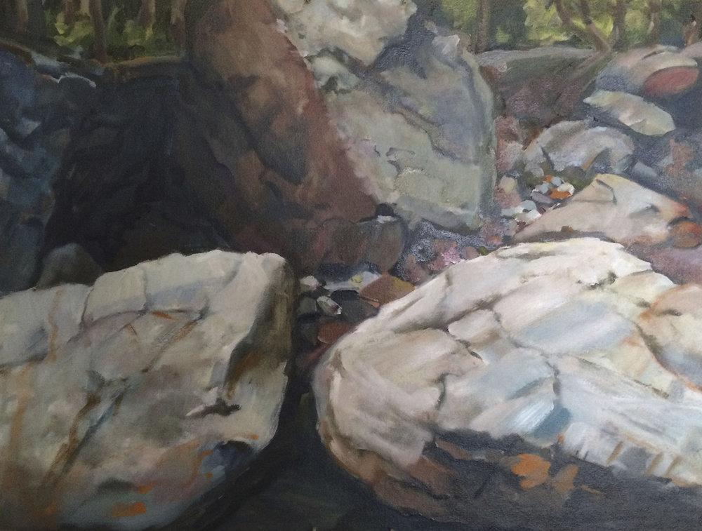 Putnam Brook Rocks: After Irene