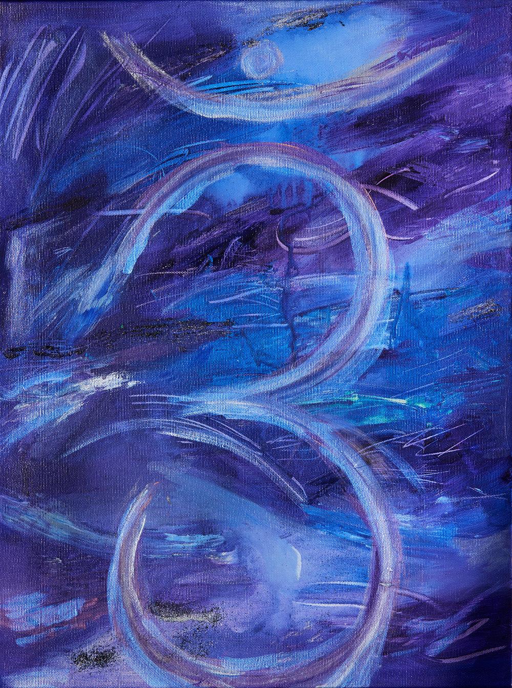 """Third Eye Ajna Chakra, 20 x 16"""""""