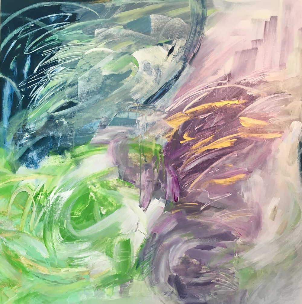 Garden of Grace II, 36 x 36""