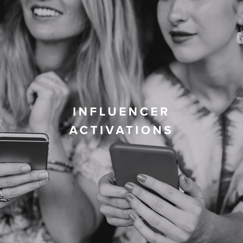 Having the most curated influencers and editors at our activations; generates far more impressions and leaves a lasting impact.