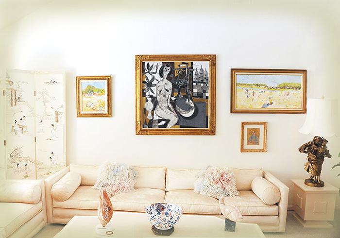 Las Vegas Estate / Nu a Montmartre / 39.4 x 39.4 inch (100cm x 100cm)