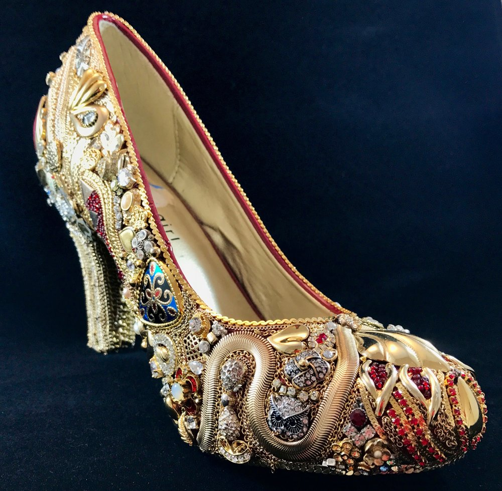 Jeweled High Heel Shoe