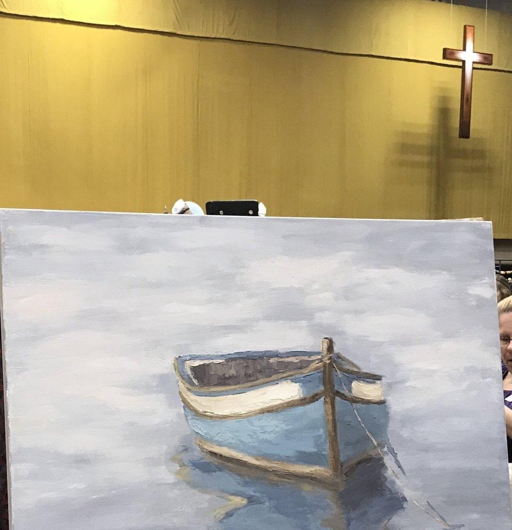 Blue Boat by Kelley Doran