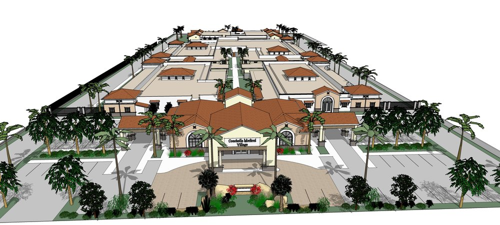 Coachella model with wider Porte Cochere (front aerial view) 9.21.2016.jpg