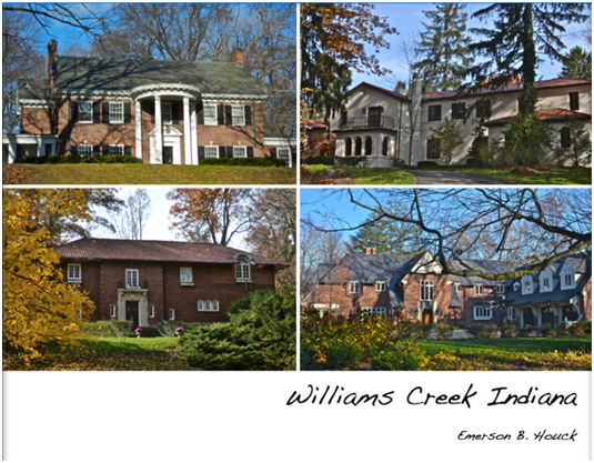 """Town Of Williams Creek History - The Town Council is pleased to offer our residents a hard bound, 100 page, 8 1/2"""" x 11"""" book with dust jacket depicting the history of the Town of Williams Creek.Many of our residents' homes and gardens are illustrated throughout the seasons in full color along with a brief background on the original as well as present owners. It has been prepared by Town Historian, Emerson Houck. You may order books by emailing your needs to him at emhouck@aol.com."""