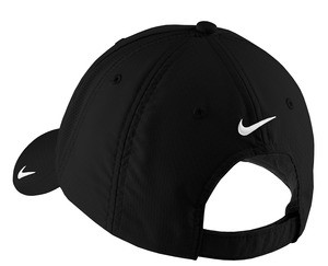 Nike Sphere Dry technology ensures maximum moisture control and quick-drying performance. This cap has an unstructured, low-profile design with a hook and loop closure. The contrast Swoosh design trademark is embroidered on the bill and center back. Made of 100% polyester. ONE SIZE (Inside circumference Min. 22 1/4 / Max 24) Price: $40.00