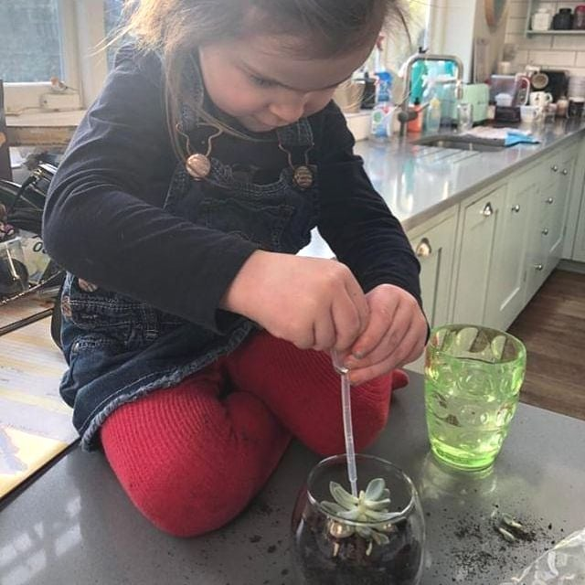 People wonder whether our kits are suitable for children. Of course they are! Children love getting stuck in with plants, creating something that they will be responsible for. Maybe they'll even give their terrarium a name!  We can provide smooth succulents instead of spiky cactii in the kits to make it child friendly.  It's a great sensory activity as it's so hands on and easy to get a hang of.  If you're looking for something more than our kits with your young one, check out the link in our bio to take part in our terrarium workshop on the 6th April. You will create a much bigger terrarium and have the time to perfect it with our guidance and you don't have to tidy up the mess. 😍