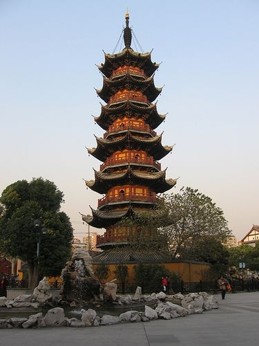 Longhua Temple is a Buddhist Temple dedicated to the Maitreya Buddha located in Shanghai, China