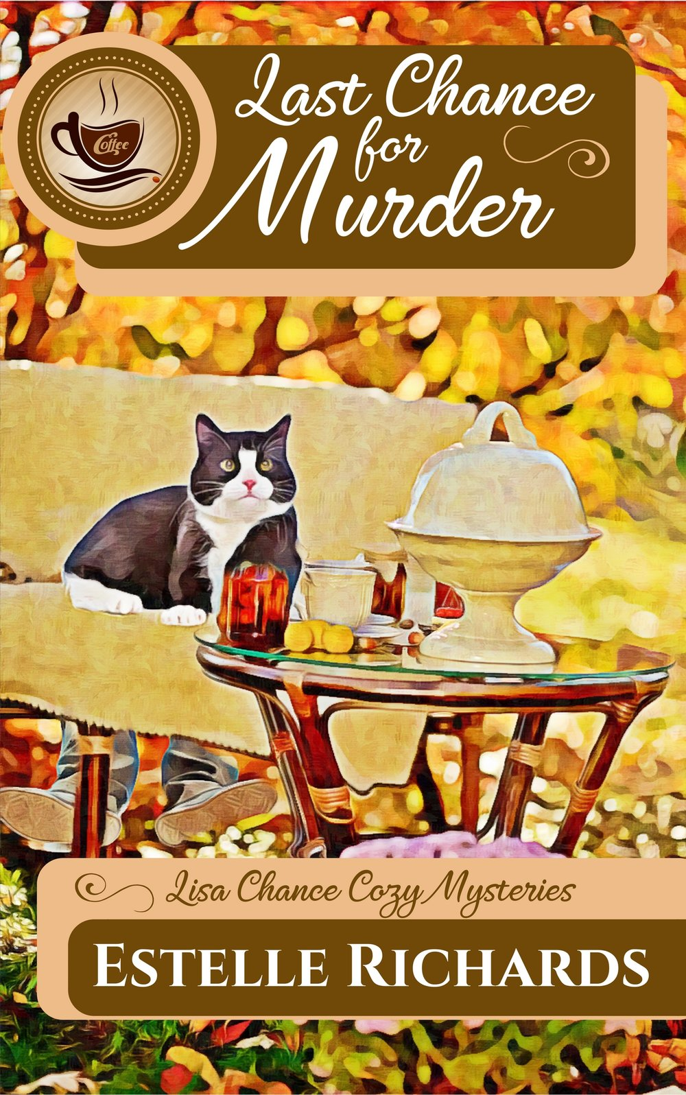 Last Chance for Murder - Book 1 of the Lisa Chance Cozy Mystery seriesOne last chance to get things right. Too old for Hollywood at age 29, Lisa Chance leaves her failed acting career and a cheating boyfriend in LA and goes home to Moss Creek, Arizona. The Folly, a stately 1870s mansion in the middle of her hometown, has always drawn Lisa like a magnet. She thought she was done with that place, but now she has the chance to turn it into the coffee shop of her dreams. But when a dead body turns up on the property, she's the prime suspect in the murder. Can Lisa figure out whodunit, or will she lose her last chance at happiness?