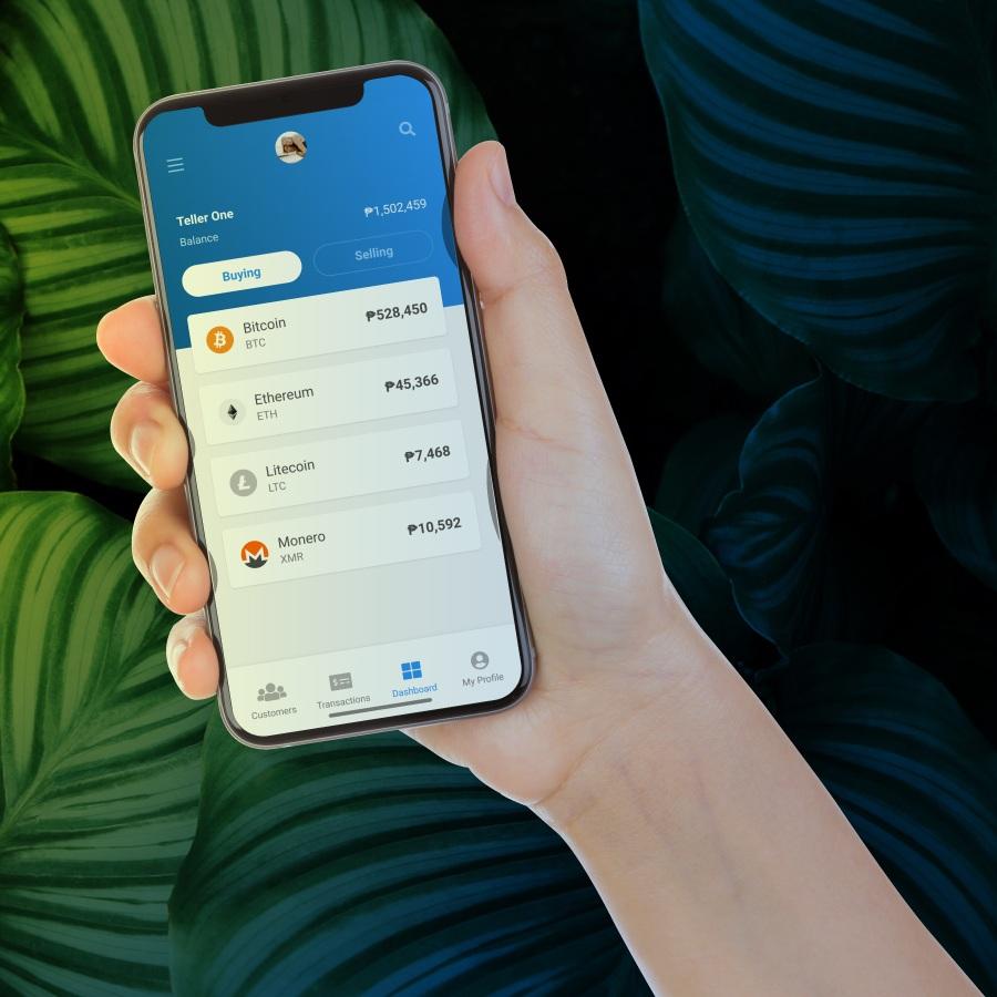 Teller App on Hand Phone