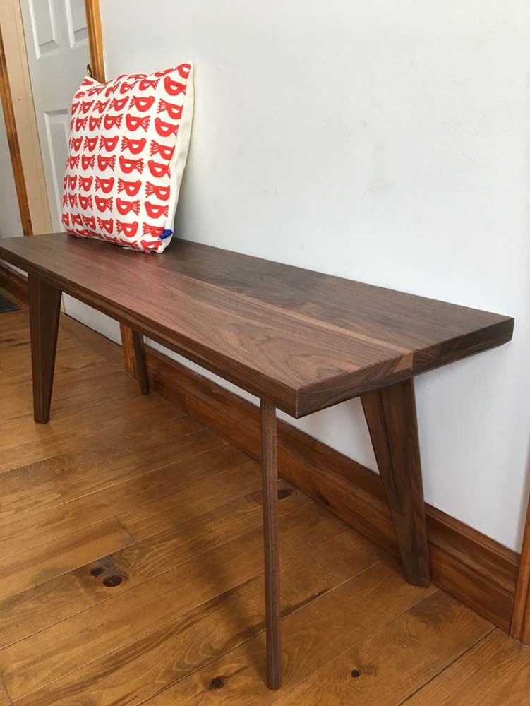 Walnut flat pack bench