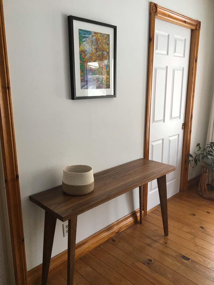 Walnut Flat Pack Console table