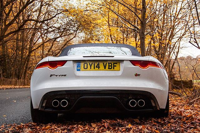 F-type tease. #jaguar #jaguarftype #autumn #englishcar #SUPAJ005H