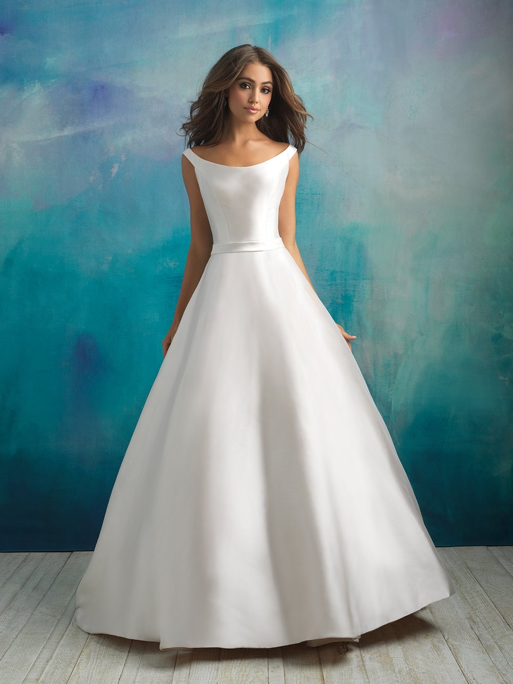 8cc81532fbce8 If you're dreaming of a classically feminine wedding dress, then look no  further! Allure truly delivers with a flattering Mikado silk A-line  silhouette.
