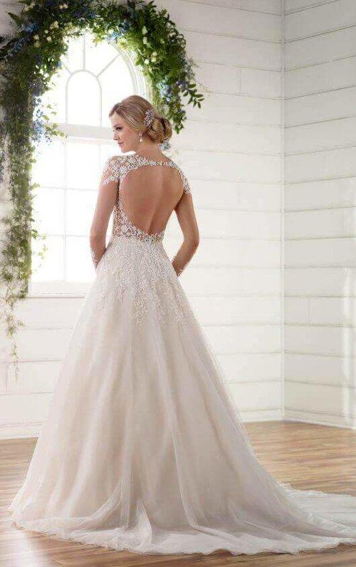 56f390e7af7 ... Essense D2253 03-530x845.jpg. Are you still loving the minimalist wedding  dress trend