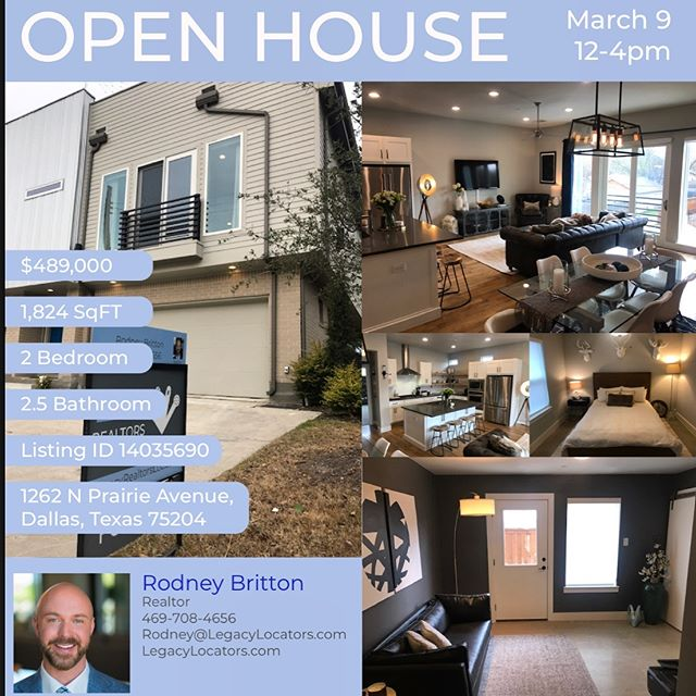 Open house by Rodney Britton! Contact him to check it out! 469-708-4656 1262 N. Prairie Avenue, Dallas, TX, 75204