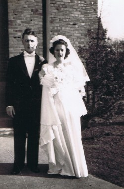 4-14-1942 Leonard and Shirley wedding