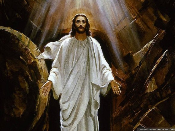 Jesus-Picture-Risen-From-The-dead-In-Front-Of-Tomb-Wallpaper